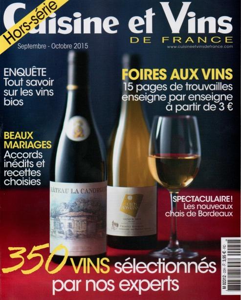 Un article dans Cuisine & Vins de France !