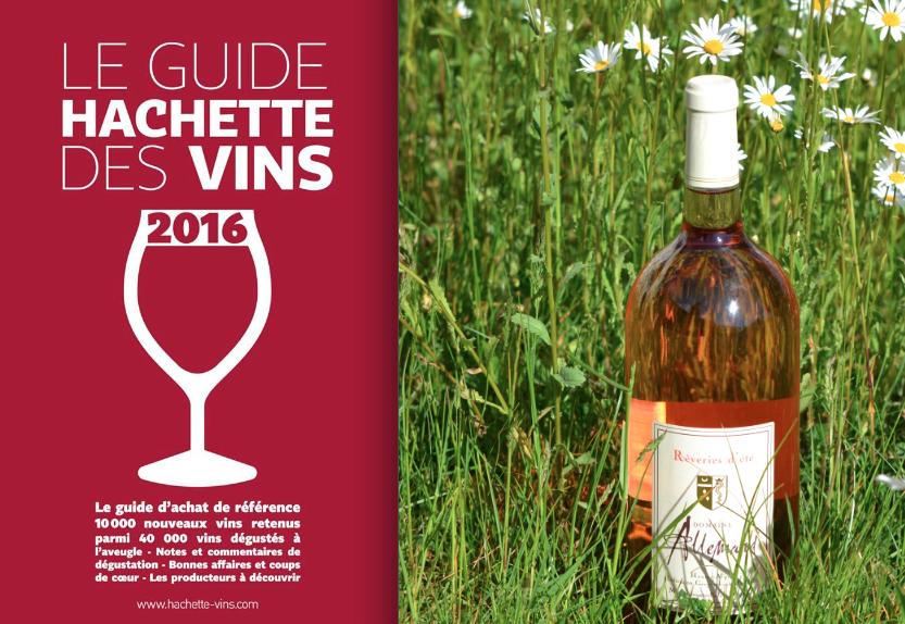 Notre rosé recommandé par le Guide Hachette des vins 2016 !